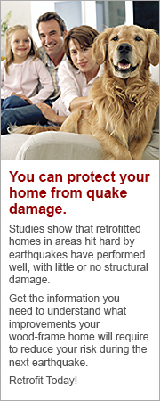 You can protect your home form quake damage
