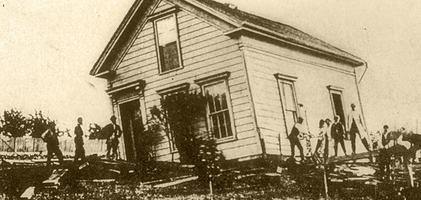 Hayward fault earthquake damage 1868