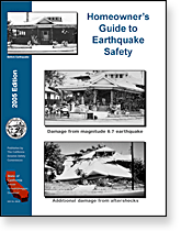Publication cover: Homeowner's Guide to Earthquake Safety.