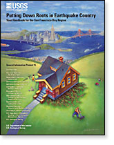 Publication cover: Putting Down Roots in Earthquake Country. Your Handbook for the San Francisco Bay Region.