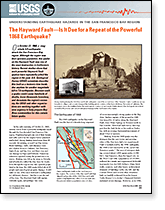 Publication cover: The Hayward Fault. Is It Due for a Repeat of the Powerful 1868 Earthquake?
