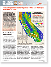 Publication cover: Forecasting California's Earthquakes. What can we expect in the next 30 Years?