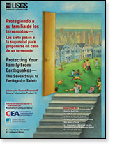 Publication cover: The Seven Steps to Earthquake Safety. Protecting Your Family From Earthquakes.